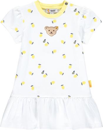 Steiff Kleid Kurzarm HELLO SUMMER Baby Girls bright white 2113446-1000