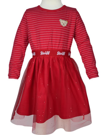 Steiff Robe manches longues BEAR TO SCHOOL tango red 2021214-4008