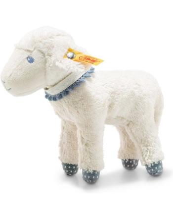 Steiff Lamm Leno 18 cm weiß/petrol 241987