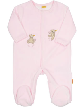 Steiff Romper suit velours WELLNESSWEAR barely pink 6846231-2560