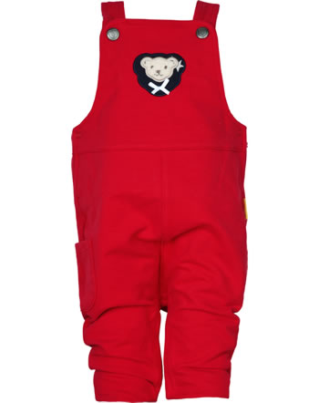 Steiff Dungarees BEAR TO SCHOOL tango red 2021419-4008