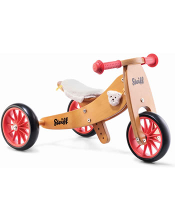 Steiff Laufrad klein braun / rot 751011