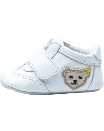 Steiff First steps soft shoe with velcro MICKY white