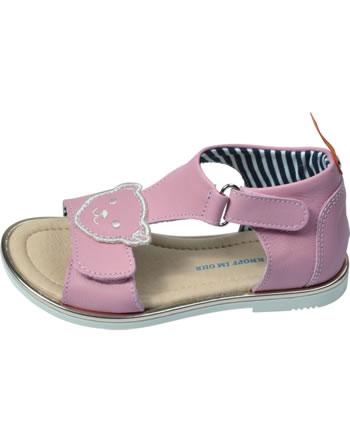 Steiff Leder-Sandale mit Klettverschluss LILLY almond blossom 0019208-3027
