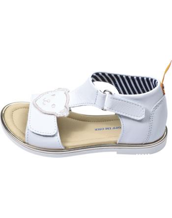 Steiff Leder-Sandale mit Klettverschluss LILLY bright white 0019208-1000