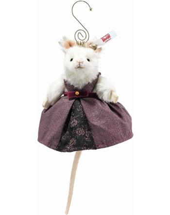 Steiff Reine des souris Ornement  11 cm alpaca blanche 006951