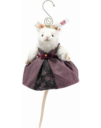 Steiff Mausekönigin Ornament 11 cm Alpaca weiß 006951