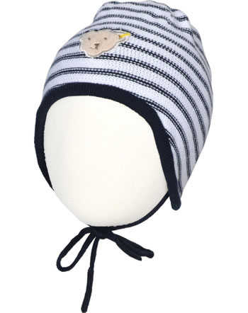 Steiff hat BEAR BLUES stripes black iris 2011222-3032