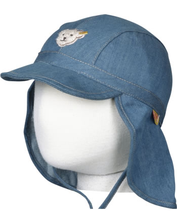 Steiff Hat with neck protection BOY LITTLE PIRAT dk. blue denim 6832520-0012
