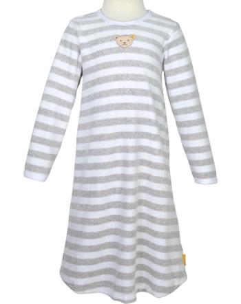 Steiff Nachthemd Velour BASIC soft grey melange 0021119-9007