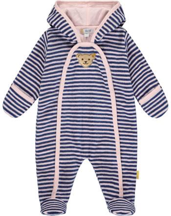 Steiff Overall m. Füßen Fleece BUGS LIFE Baby Girls deep cobalt 2111441-6062