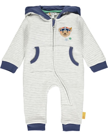 Steiff Overall Ohren-Kapuze HIGH FIVE Baby Boys soft grey melange 2111318-9007
