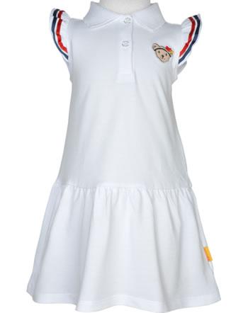 Steiff Polo Dress sleeveless MARINE AIR Mini Girls bright white 2112216-1000