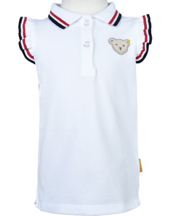 Steiff Polo-Shirt ärmellos AHOI MINI! bright white 2012516-1000