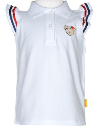 Steiff Polo-Shirt ärmellos MARINE AIR Mini Girls bright white 2112214-1000