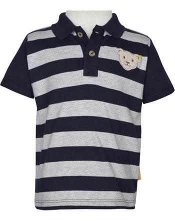 Steiff Polo-Shirt Kurzarm GO BEAR GO black iris 2011409-3032