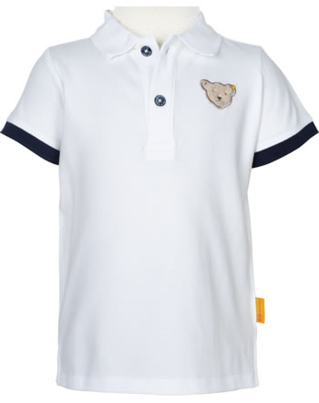 Steiff Polo-Shirt Kurzarm HELLO SUMMER Mini Boys bright white 2113110-1000