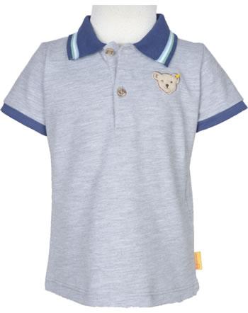Steiff Polo-Shirt short sleeve HIGH FIVE Mini Boys soft grey melange 2111109-9007