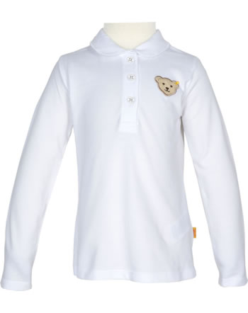 Steiff Polo-Shirt Langarm BASIC bright white 0021106-1000