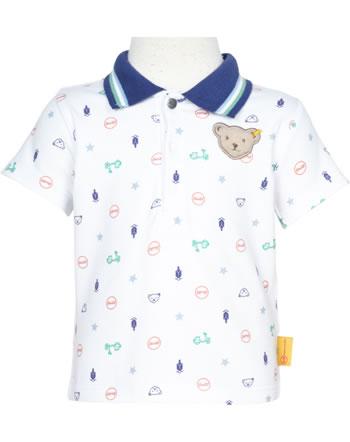 Steiff Shirt short sleeve HIGH FIVE Baby Boys bright white 2111302-1000