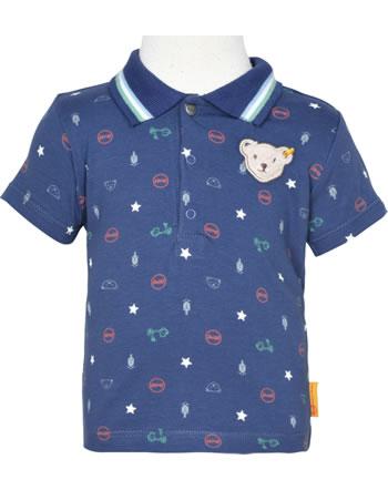 Steiff Shirt short sleeve HIGH FIVE Baby Boys deep cobalt 2111302-6062