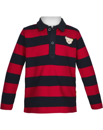 Steiff Shirt long sleeve BEAR TO SCHOOL tango red 2021104-4008