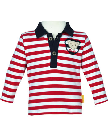 Steiff Poloshirt Langarm BEAR TO SCHOOL tango red 2021332-4008
