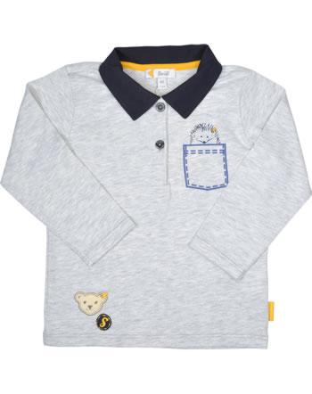 Steiff Poloshirt Langarm LETS PLAY Baby Boys nimbus cloud 2121332-9017