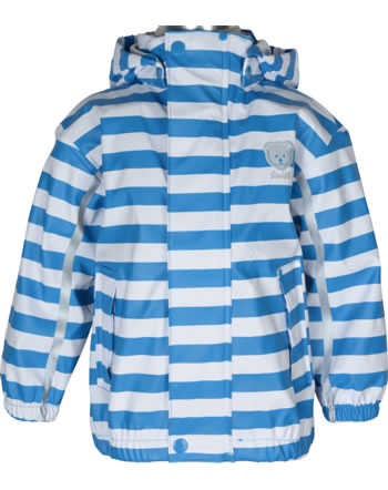 Steiff Rain Jacket striped BASIC Mix & Match swedish blue 000020506-6034