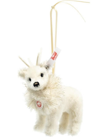 Steiff renne Winter Ornament 12 cm blanc alpaca 006234