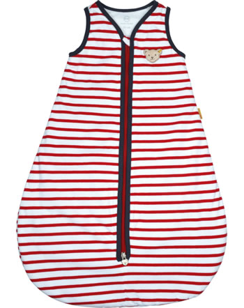 Steiff Sleeping bag AHOI BABY Streifen tango red 2012226-4008