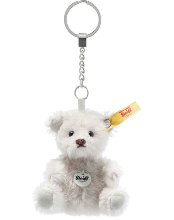 Steiff Porte-clés Ours miniature 8 cm mohair lilas/gris 039560