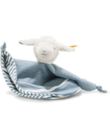 Steiff Doudou agneau Leno 28 cm blanc/pétrole 241963