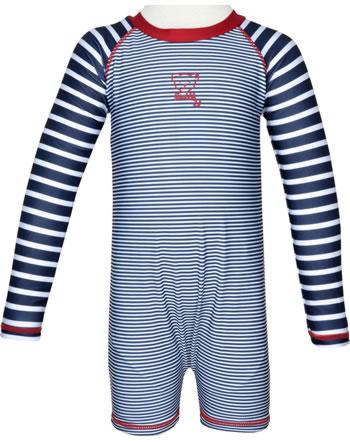 Steiff Schwimmanzug Badeoverall CRAB MEETS STRIPES steiff navy 2014612-3032
