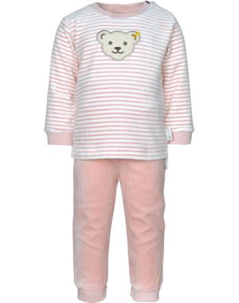Steiff Set Hose + Sweatshirt ORGANIC JUST DOTS Baby silver pink 2122501-3015