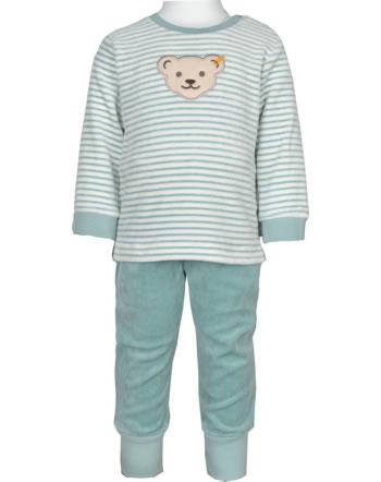 Steiff Set Hose + Sweatshirt ORGANIC JUST DOTS Baby tourmaline 2122501-5023