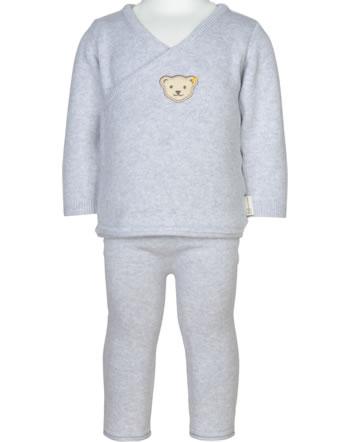 Steiff Set Hose + Sweatshirt ORGANIC LUCKY CHARM Baby nimbus cloud 2122622-9017