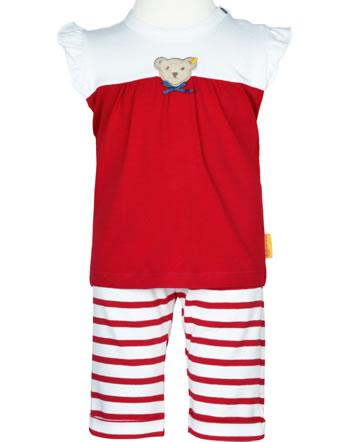 Steiff Set Shirt + Hose  AHOI BABY tango red 2012227-4008