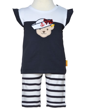 Steiff Set Shirt + Hose MARINE AIR Baby Girls steiff navy 2112427-3032