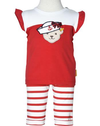 Steiff Set Shirt + pants MARINE AIR Baby Girls true red 2112427-4015