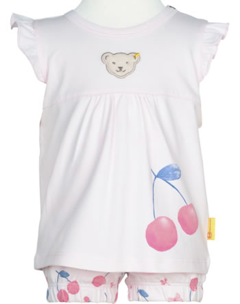 Steiff Set Shirt and pants BEAR AND CHERRY barely pink 2013226-2560