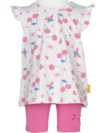 Steiff Set Shirt and leggings BEAR AND CHERRY barely pink 2013224-2560
