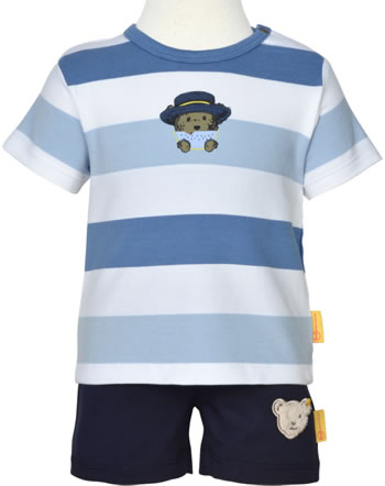 Steiff Set Shirt and shorts HELLO SUMMER Baby Boys coronet blue 2113322-6048