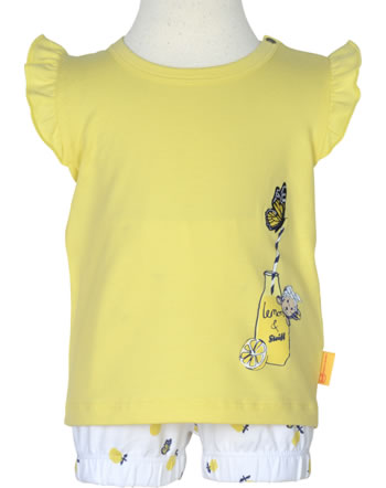 Steiff Set Shirt und Shorts HELLO SUMMER yellow cream 2113425-2005