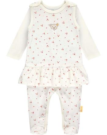 Steiff Set Strampler und Shirt BEST FRIENDS Baby Girls winter white 2123422-1060