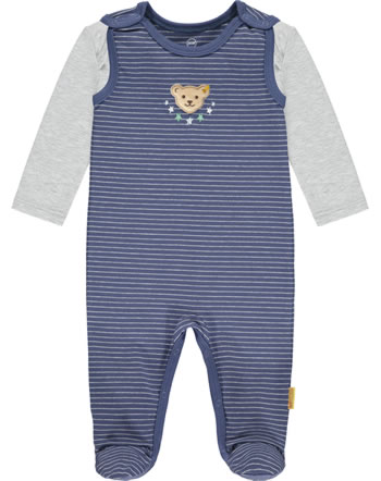 Steiff Romper and shirt HIGH FIVE Baby Boys deep cobalt 2111314-6062