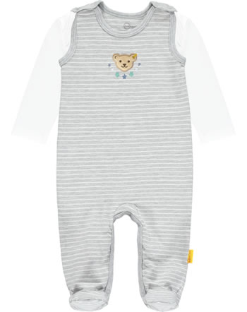 Steiff Romper and shirt HIGH FIVE Boys soft grey melange 2111314-9007