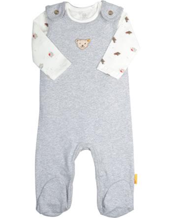 Steiff Romper and shirt 140 JAHRE STEIFF soft grey melange 2015101-9007