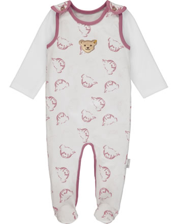 Steiff Romper and shirt BABY ORGANIC cloud dancer 2012318-1001