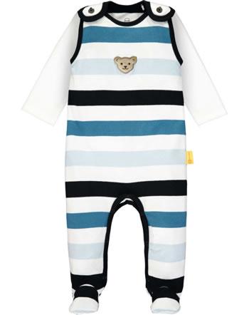 Steiff Set Strampler und Shirt Langarm BEAR BLUES bright white 2011214-1000